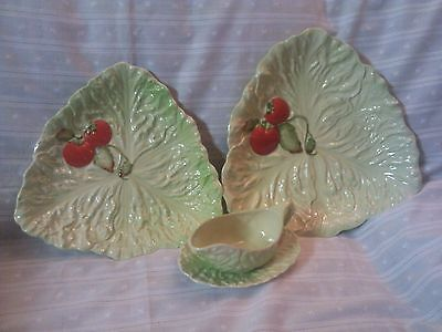 4 pieces of Carlton Ware Lettuce and Tomato pattern