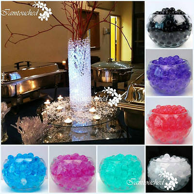 2750X Water Crystal Soil Water Bio Gel Ball Beads Wedding Vase Centerpiece Decor