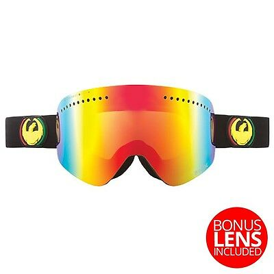 Dragon NFX Frameless Snow Goggles Rasta - Red Ionized + Yellow Blue Ion Lens