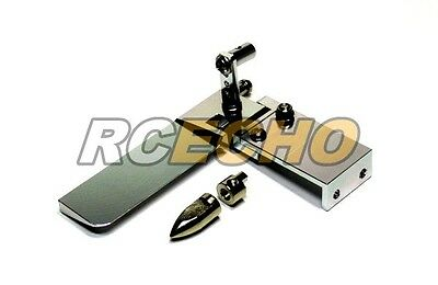 RC Model Ship 75mm Silver Aluminium Cooling R/C Hobby Boat Rudder HR300