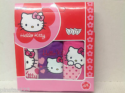 HELLO KITTY  3 Pack Briefs/knickers ALL SIZES GIRL UK BARGAIN