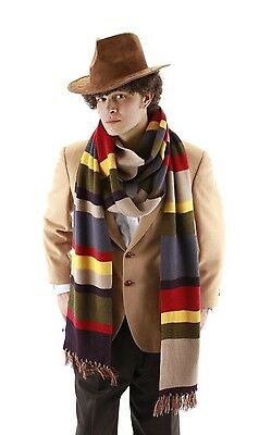 Dr Doctor Who Scarf Cosplay Fourth 4th 12' DELUXE Tom Baker Striped