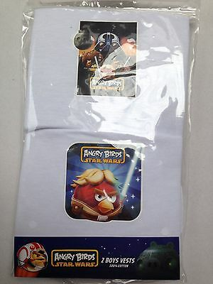 2Pk  Boys/baby  Angry Birds Starwars Vests/underwearall Sizes