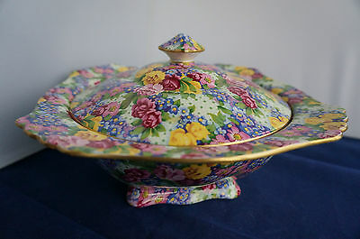 Chintzware Repro Royal Winton Grimwades England Covered Dish Julia Pattern