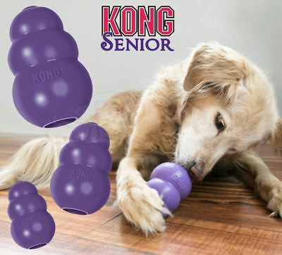 Kong Senior Dog Rubber Chew Toy Treat Dispenser For Old Mature