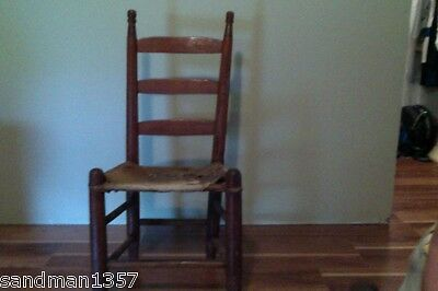 Antique Alabama Creek Indian Handmade Cowhide Chair Mid 1800's Museum Quality