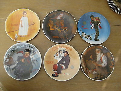 Rockwell's Christmas Plates Knowles (6 plates) see description