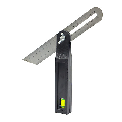 New Sliding T Bevel With Spirit Level Adjustable Sliding Gauge Angle Tool 200mm