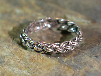 Ring Silver Viking Medieval Celtic Germanic braided braiding small