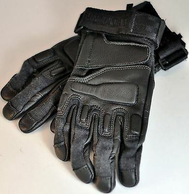 Defective Blackhawk Fury Commando HD Gloves w/ Kevlar Large Black #8157LGBK