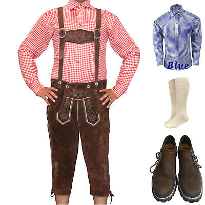 Authentic German Bavarian Trachte Lederhosen Oktoberfest Kniebund Package / Set