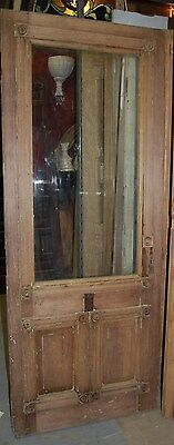 Vintage Ash Cottage Door, Virgin, w/ Glass Window