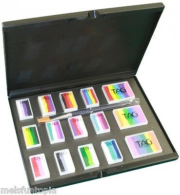 TAG Body Art All the Rainbows Palette incl Brush & Case Face & Body Paint Makeup