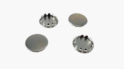 """Set of Four 1-1/8"""" Metal Hole Plugs- Nickle Plated Steel - SP-1.125-NK"""