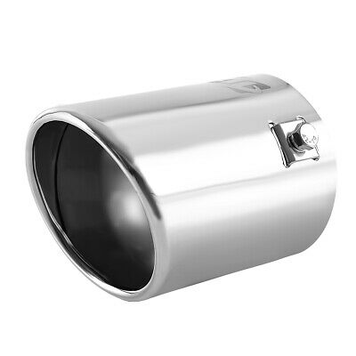 """Round Car  Chrome EXHAUST Tail Muffler Tip Pipe Fit diameter 1 1/2""""  TO  2 3/4''"""