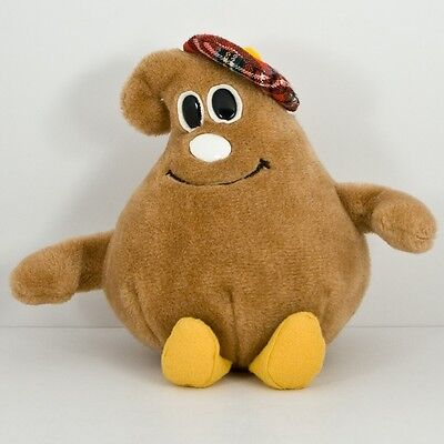 "Vtg 1984 Nestle Advertising Stuffed Plush Chocolate Chip ""Scotchy"" Toy 8.5"""