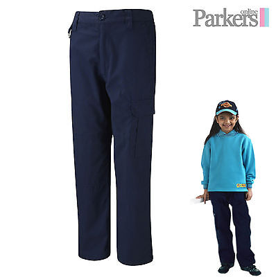 Brand New Girls Navy Blue Activity Trousers Beavers Cubs Scouts Size 9-13 Years