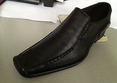 Men's dress shoes slip-on Synthetic Leather L.Brown,Black Solid/Printed # 5745