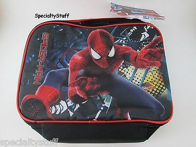 NEW SPIDER-MAN SPIDERMAN RECTANGLE SOFT INSULATED LUNCH BAG W/STRAP (MADIM)