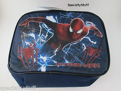 NEW SPIDER-MAN SPIDERMAN RECTANGLE SOFT INSULATED LUNCH BAG W/STRAP (SPSLK)