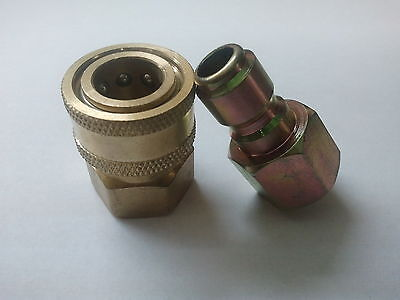 """1/4"""" Quick Connect Fittings for Pressure Washer Hose-New- Top Quality ALL BRASS"""
