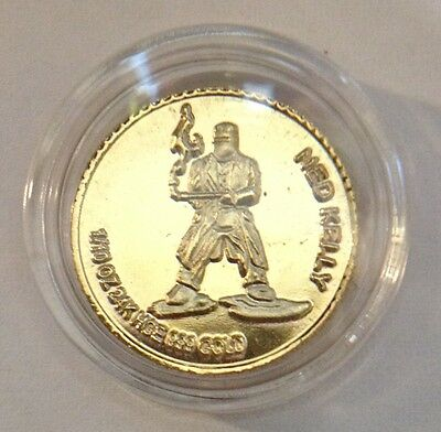 "Awesome 2011 ""NED KELLY"" Mini Coin Finished in 24 Karat Gold b"