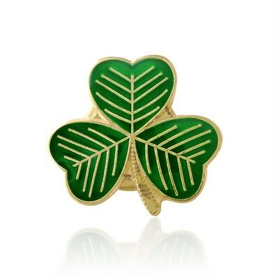 Green and Gold SHAMROCK  ENAMEL  PIN BADGE BUY 2 GET 3 of these