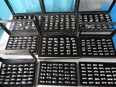 **50 cents/ring-lot of 30 Wholesale men's jewelry stainless steel rings
