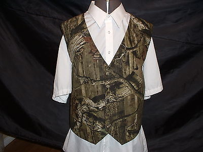 CAMOUFLAGE / CAMO WEDDING / PROM VEST / 5 DIFFERENT MATERIALS AVAILABLE