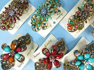 US Seller-12pcs wholesale hair clips hair jewelry vintage inspired hair barrette