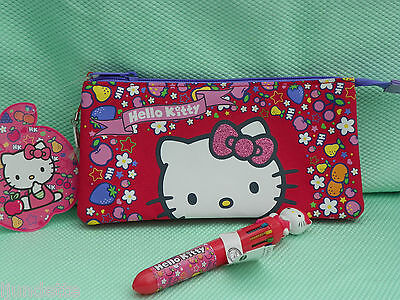 HELLO KITTY *-* TROUSSE  ET STYLO MULTI MINES décor fruits
