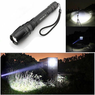 2000LM Zoomable Cree XM-L T6 Led Flashlight 5in1 Rechargeable Torch Light USA !
