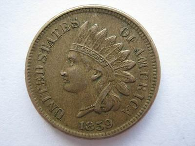United States 1859 Indian Head Cent, GVF.