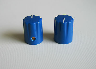 10pcs Blue Guitar Scalloped Edge Davies 1900H Style AMP Knob Effect Pedal Knobs
