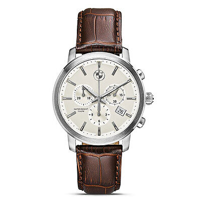 Mens BMW Chronograph  Watch; Brown Leather Strap    80262311777