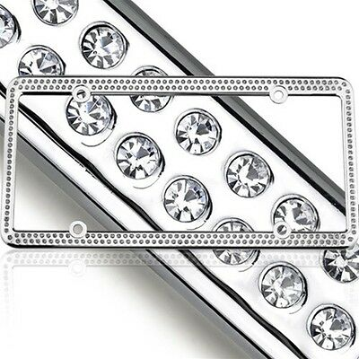 SWAROVSKI CLEAR CRYSTAL Bling license plate frame Inlay With ...