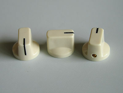 """10pcs Ivory Davies Style 1/4"""" Guitar Effects Pedal Knobs AMP Amplifier Knob"""