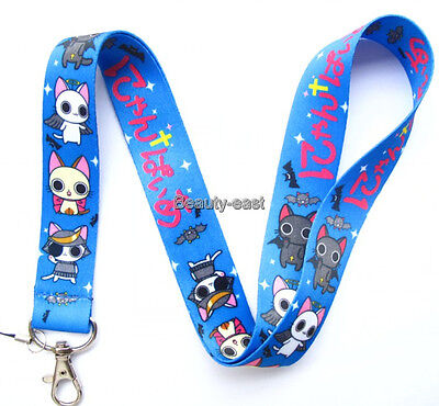 New 10Pcs cartoon Cat Neck mobile Phone lanyard Keychain straps charms Gifts Q36