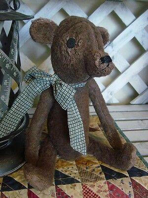 FINISHED Primitive Antique Look Handmade Charles the Bear