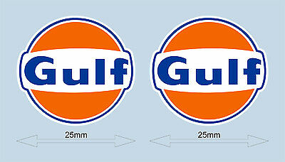 """Gulf logo laminated stickers 25 mm 1"""" wide - Officially licensed"""