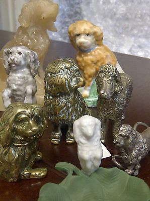 Vintage Poodle,CANICHE,PUDEL Water Dog Collection of 8 Figures