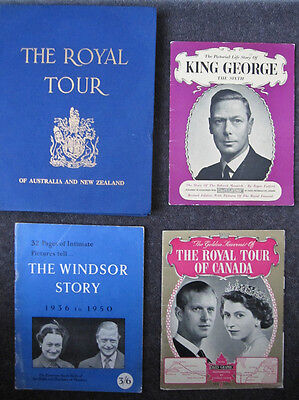 4 BOOKs royal QUEEN prince PHILIP windsors KING george TOUR history DUKE duchess