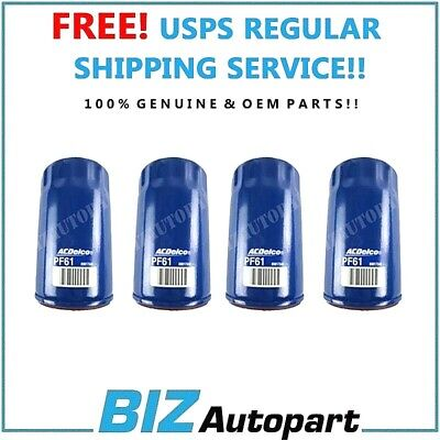 GENUINE ACDELCO OIL FILTER for 75-12 BUICK CADILLAC CHEVY GMC HUMMER PF61 4PCS