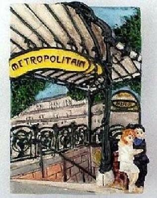 NEW Metropolitain Paris Metro Entrance French Lovers 3D Magnet  IMPORTED