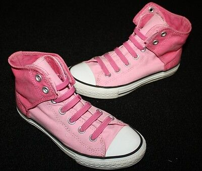 dceb5da30ed3 CONVERSE CHUCK TAYLOR ALL STAR HI-TOP No Tie SHOES Two Tones Pink Girl Size