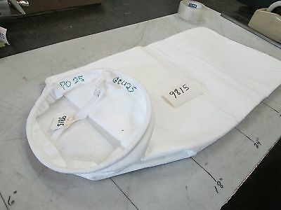 "Dust Collector Steel Ring Polypropylene Bags PO25 9"" OD Ring 24"" Lg Lot 10 (NIB)"
