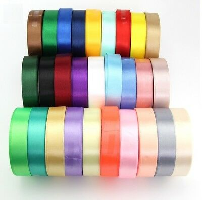 22 Metres Satin Ribbon 25mm in Multiple Colors sold in Reels for party christmas