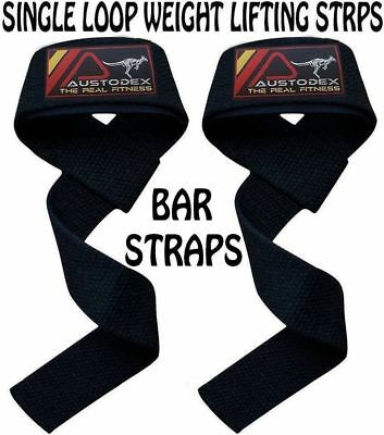 Weight Lifting Straps. Weightlifting Bodybuilding Wrist Bar Support Power Wraps