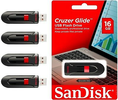 SANDISK CRUZER GLIDE 16GB USB 3.0 FLASH DRIVE MEMORY STICK THUMB WHOLESALE Lot