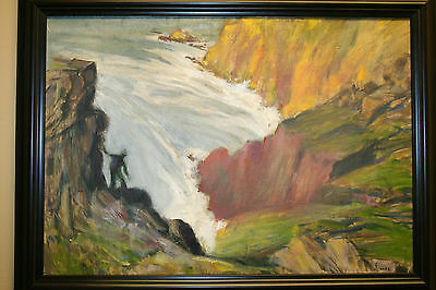 oil painting Maximilien Luce framed signed Impressionism on Canvas Impressionist